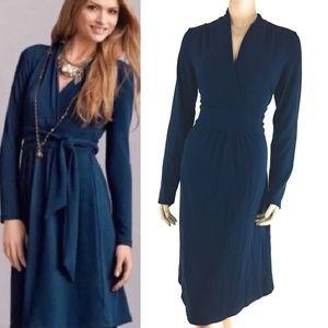 Cabi Womens Chelsea Wrap Dress Long Sleeve Size M